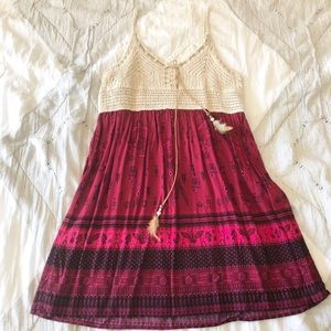 NWT Boho Crochet Sundress